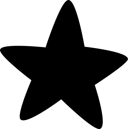 Star  black and white black star clipart 4