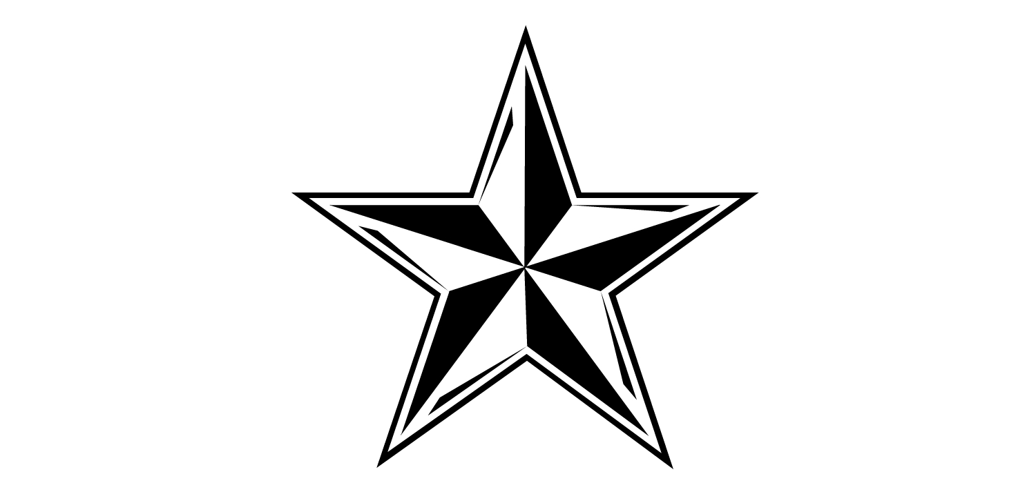 Star  black and white star outline black and white clipart