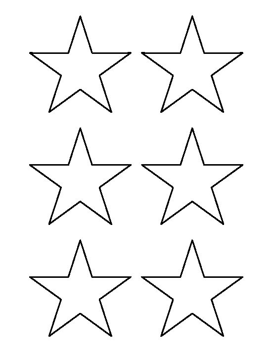 Star outline images 3 inch star pattern use the printable outline for crafts clipart