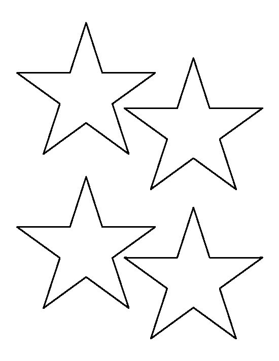Star outline images 4 inch star pattern use the printable outline for crafts clipart