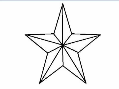 Star outline images nautical star outline pattern related keywords clipart 3