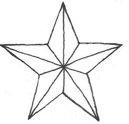 Star outline images nautical star outline pattern related keywords clipart