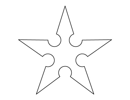 Star outline images ninja star pattern use the printable outline for crafts creating clip art