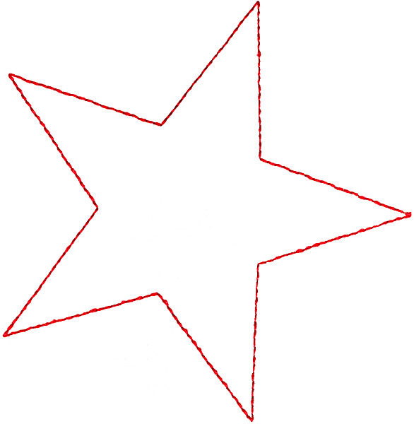 Star outline images outline of a star clipart 2