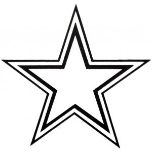 Star outline images perfect star outlines clipart