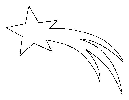 Star outline images shooting star pattern use the printable outline for crafts clipart
