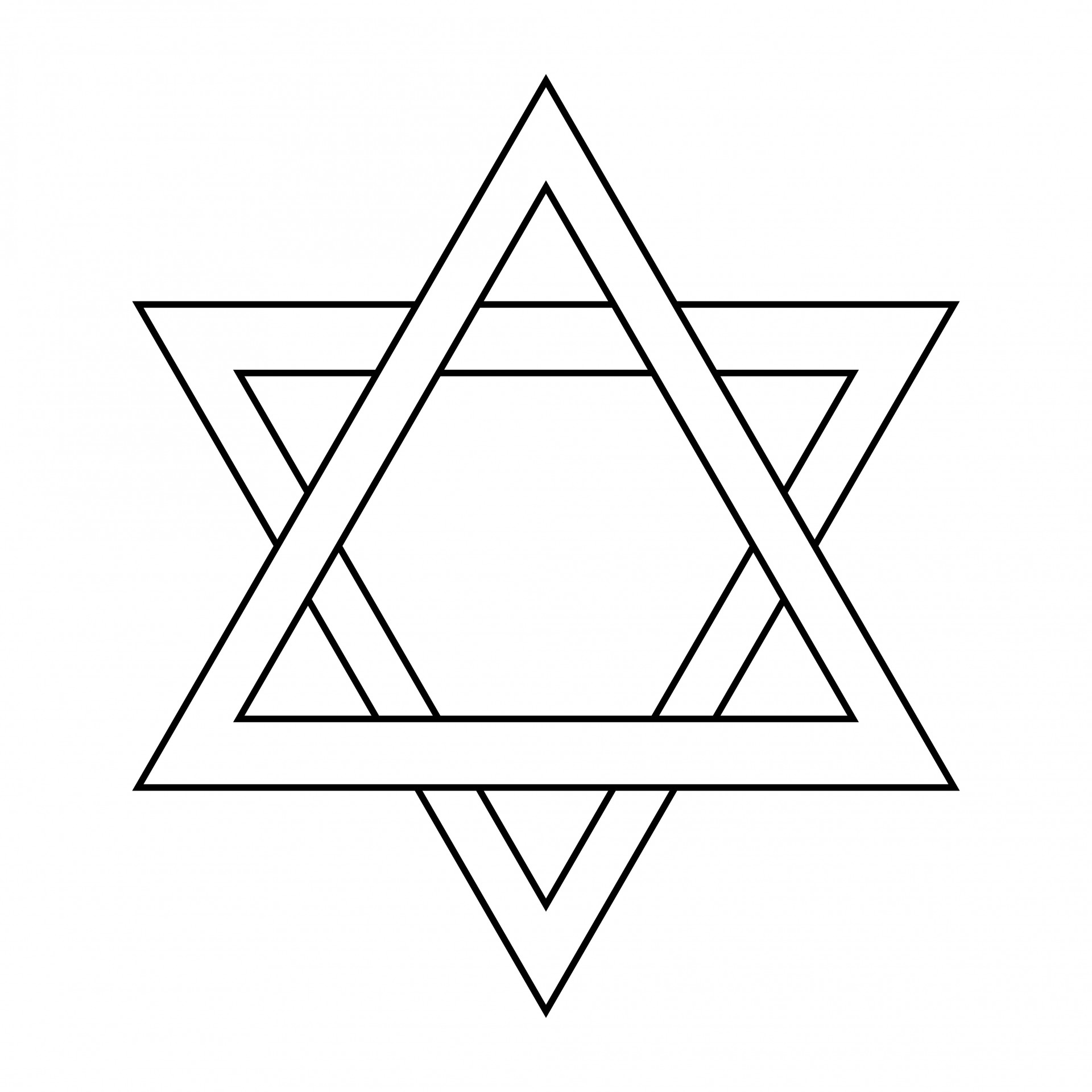 Star outline images star of david outline free pictures clipart