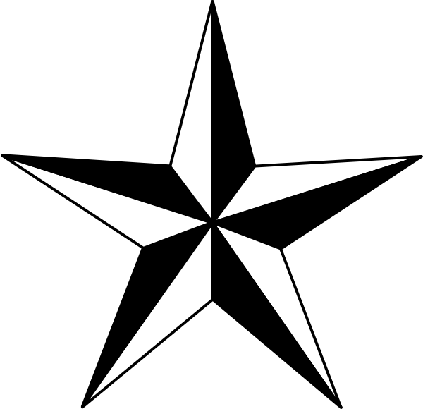 Star outline images star outline black and white clipart 2