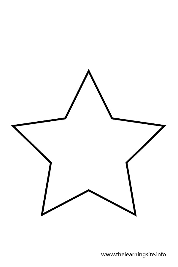 Star outline images star outline black and white clipart