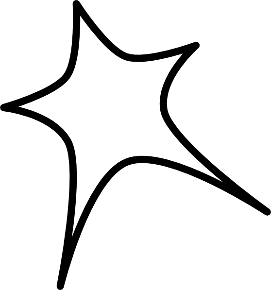 Star outline images star shaped outline clipart