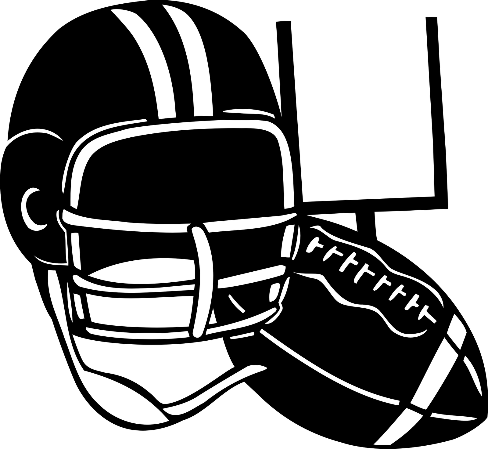 Sunday football clipart