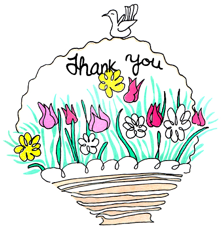 Thank you  free thank you flowers clipart