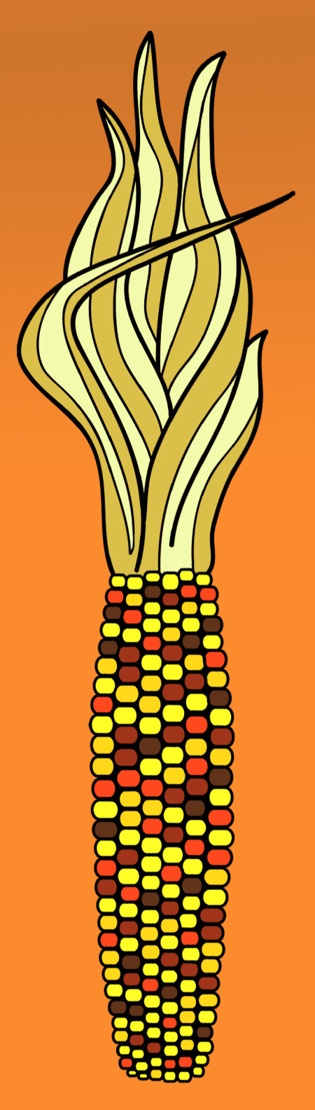 Thanksgiving corn clipart 2