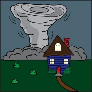 Tornado clipart image clip art a tornadoing