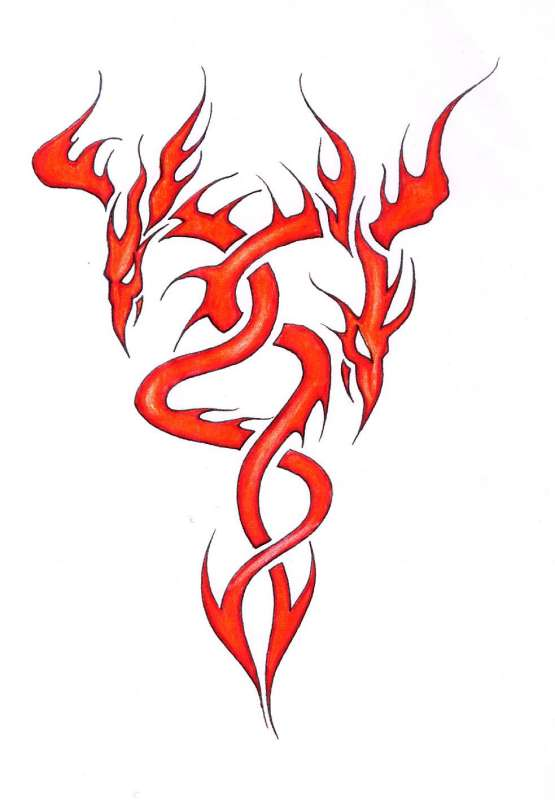 Tribal flame clipart