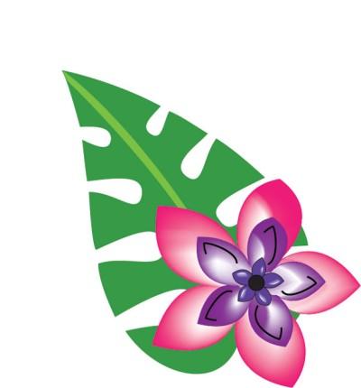 Tropical free hawaiian clip art flower luau 4
