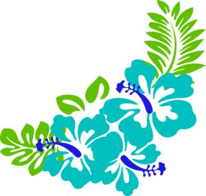 Tropical free hawaiian clip art flower luau 5