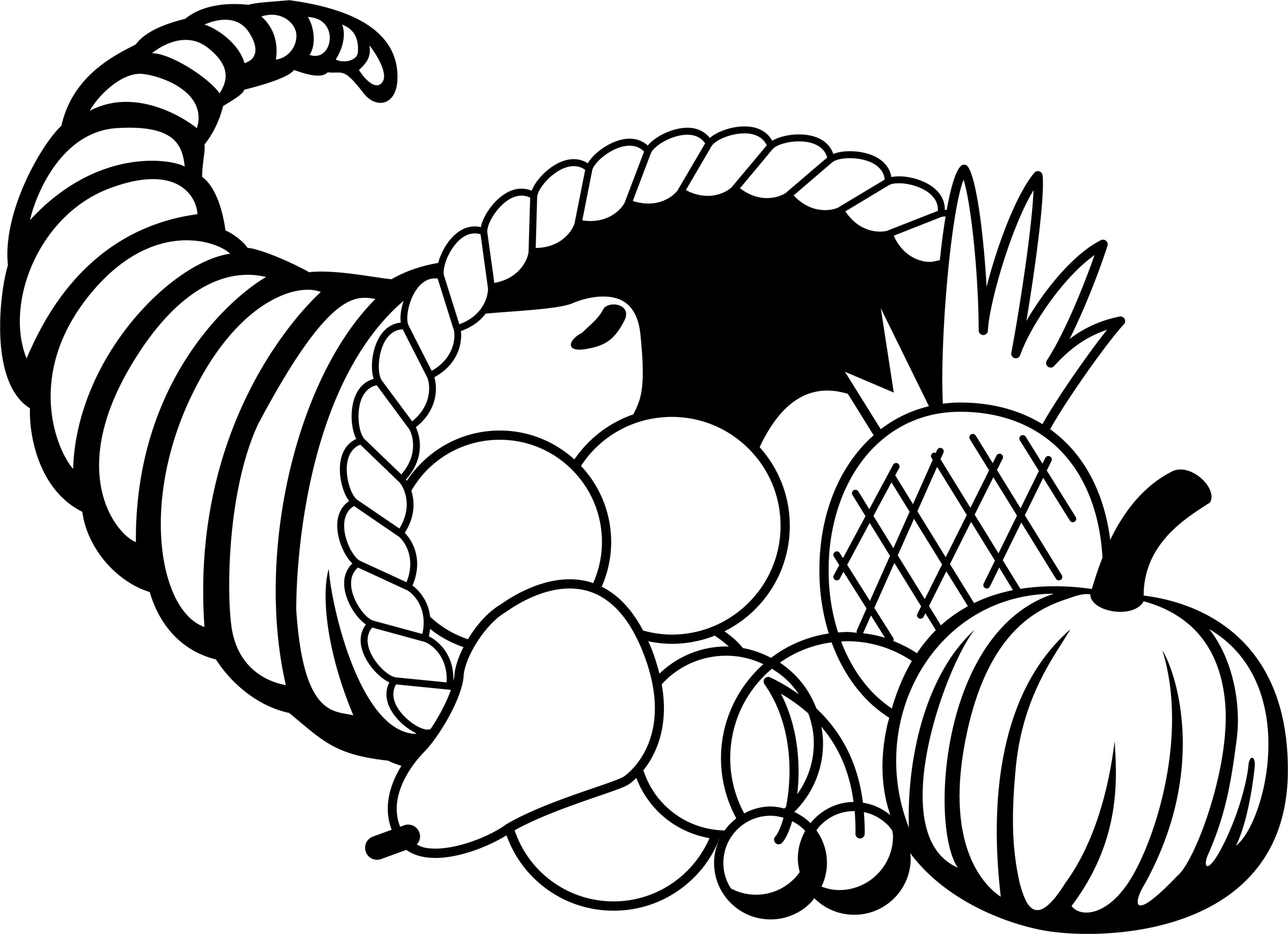 turkey black and white thanksgiving black and white clipart