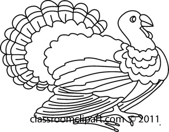 Turkey  black and white thanksgiving food black and white clipart