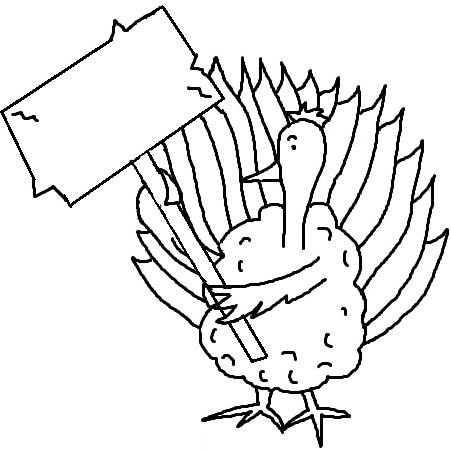 Turkey  black and white turkey clipart black and white clipart