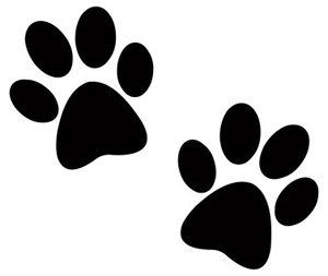 Two dog paw prints clip art pictures of dogs