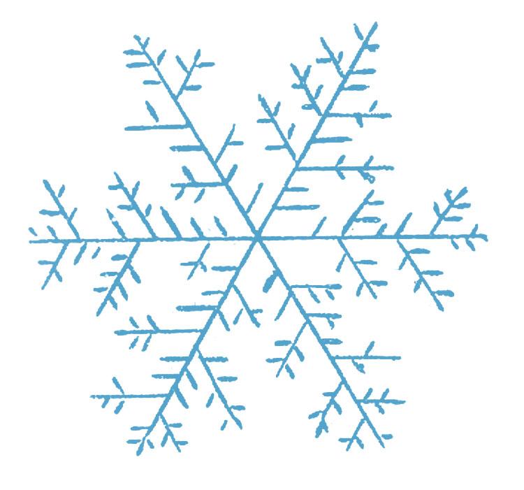 Vintage snowflake clipart