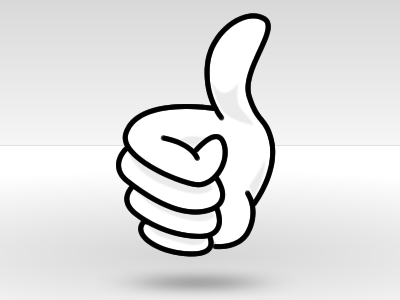 Vintage thumbs up clipart