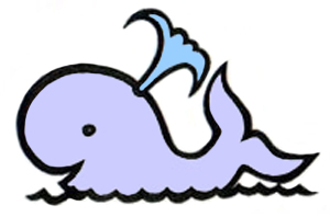Water whale clipart