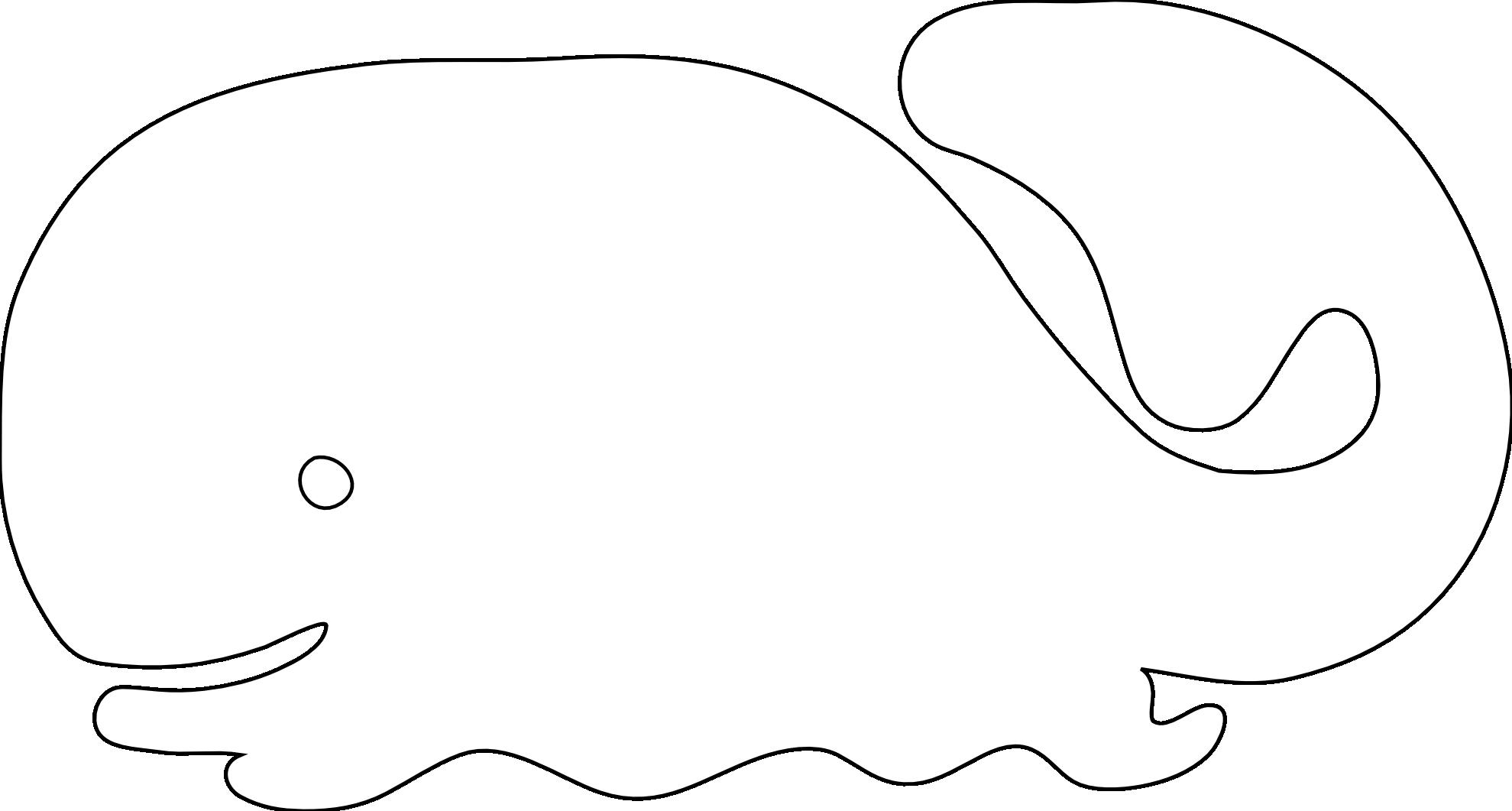 Whale cartoon clip art image 2