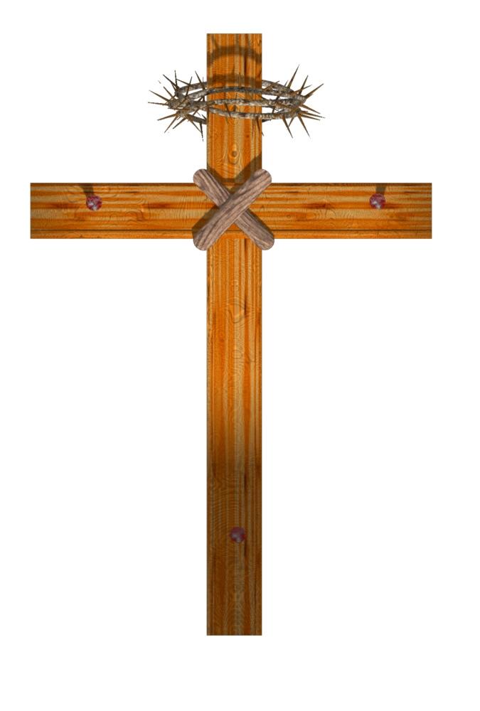 Wooden cross clipart 2
