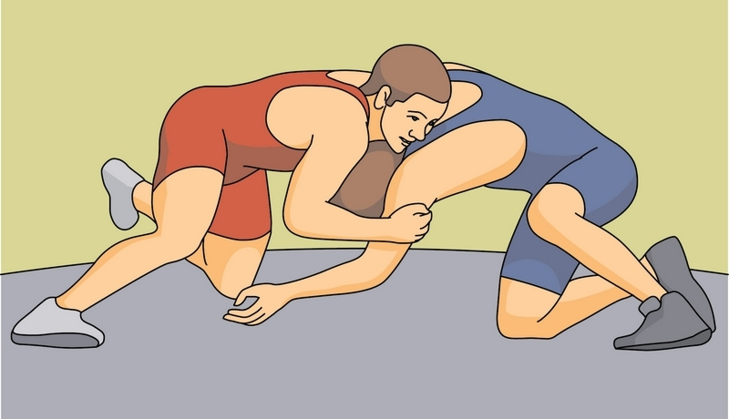 Wrestling clipart lc wrestling clinch