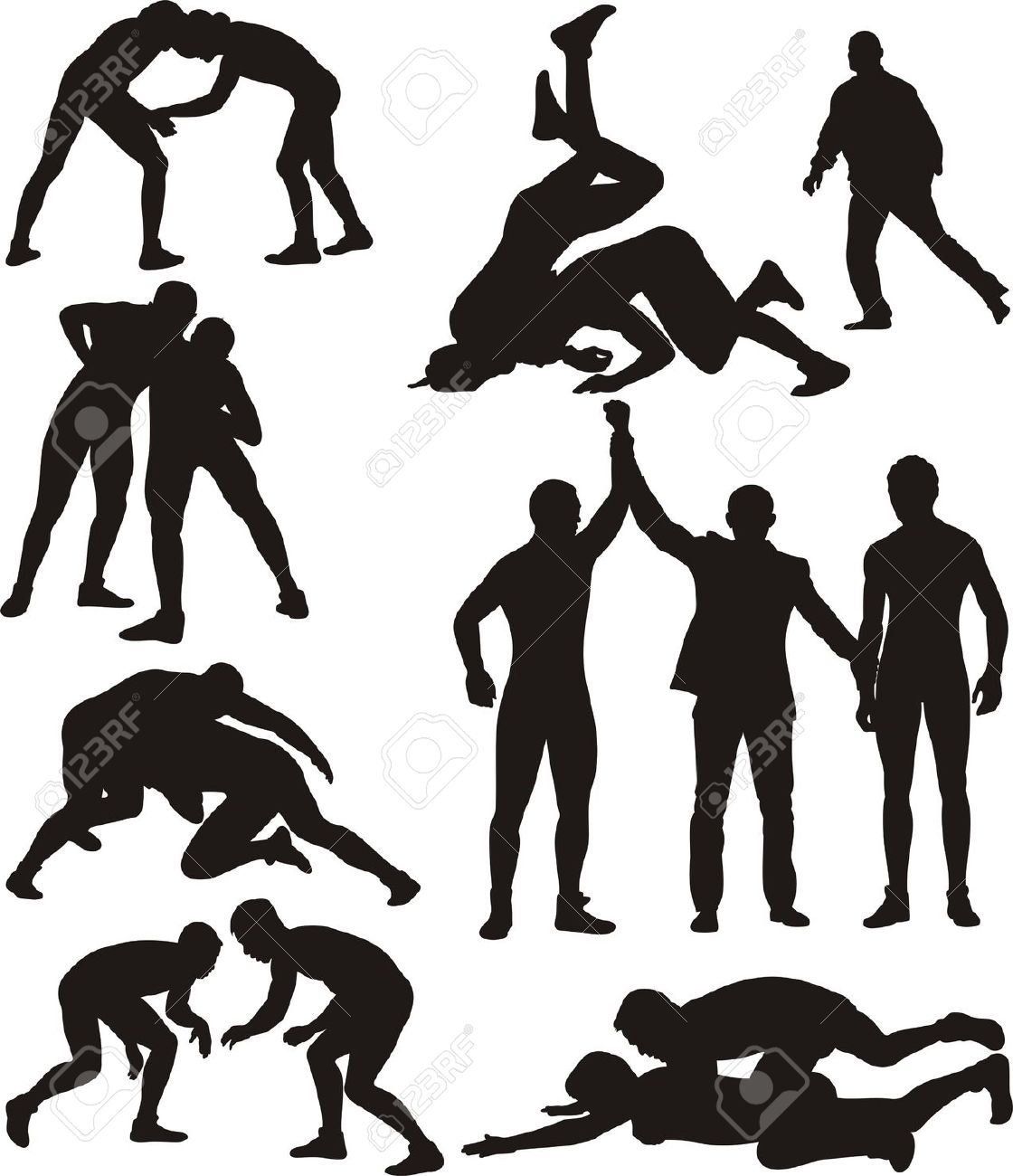 Wrestling wrestler cliparts
