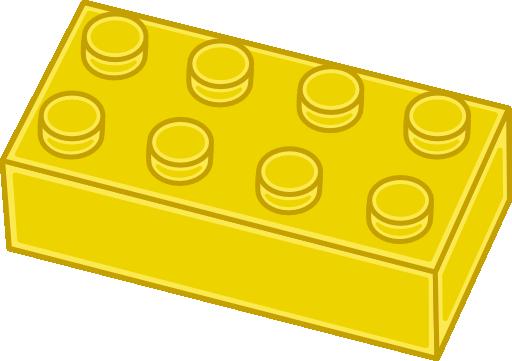 Yellow lego brick clipart i2clipart free