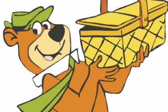 Yogi bear picnic clipart