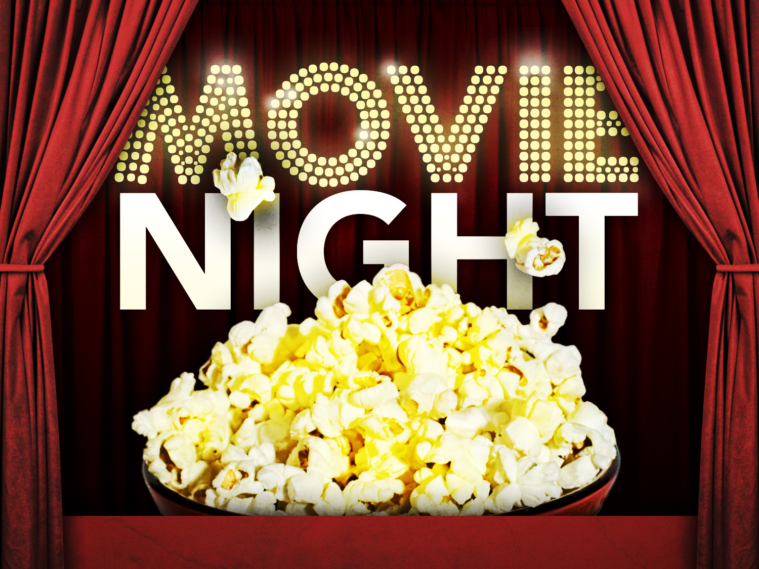 Youth movie night clipart