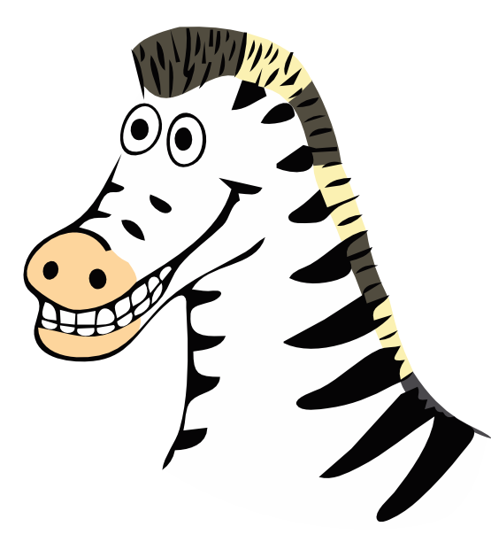 Zebra clip art black and white free clipart images 2