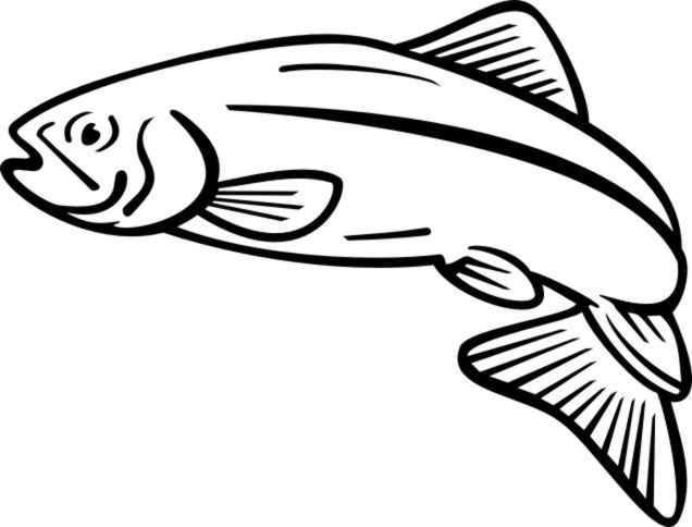 Aboriginal salmon clipart image