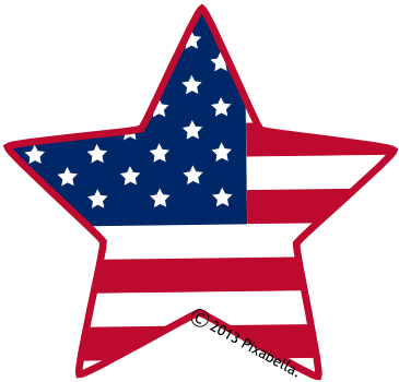 American flag background clipart