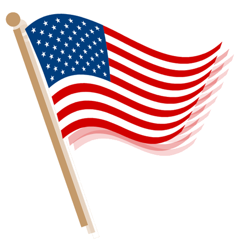 American flag banner clipart free images 3
