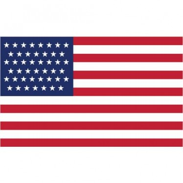 American flag clip art 2