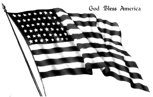 American flag clip art free 2