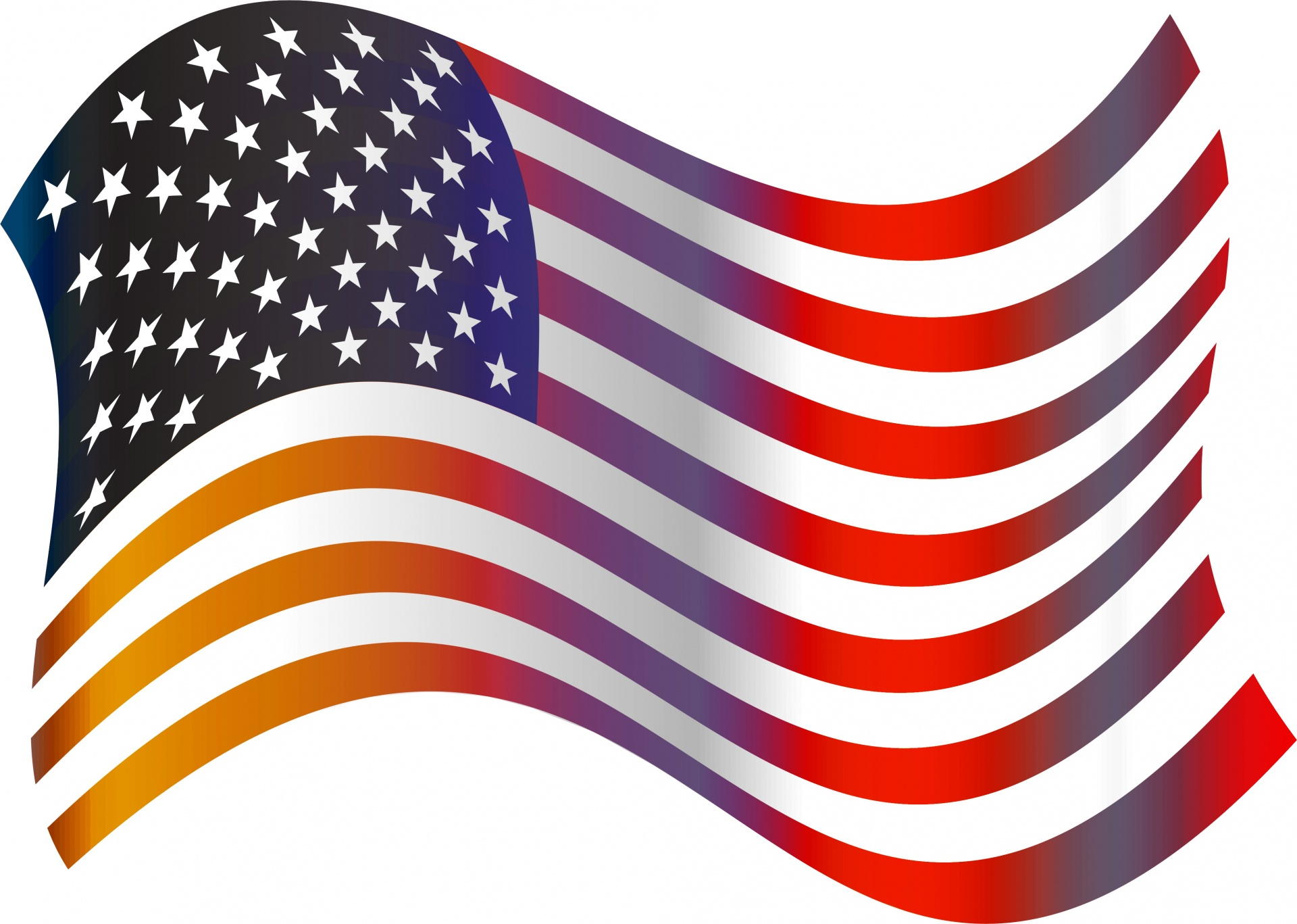American flag clip art free pictures