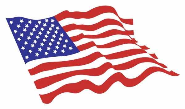 American flag clip art free vector download