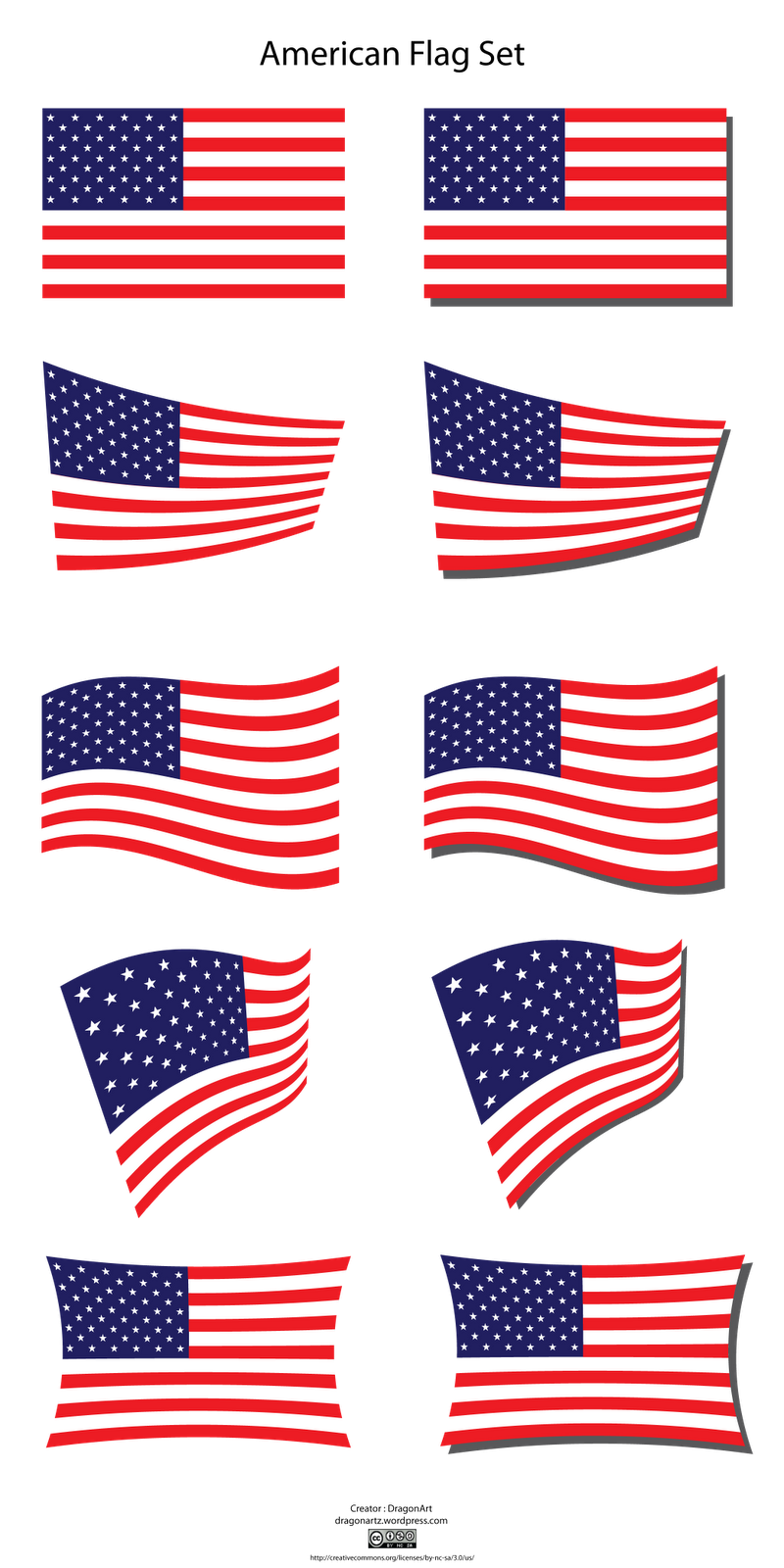 American flag clipart 5