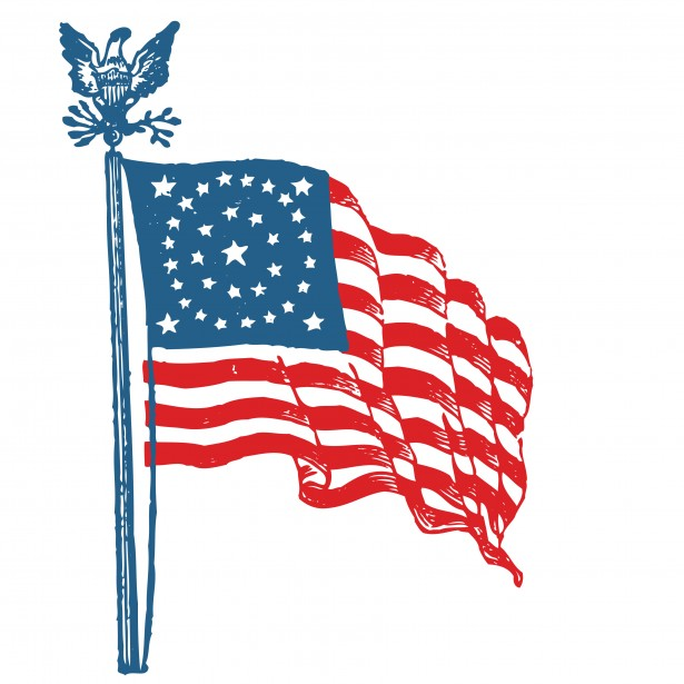 American flag clipart free pictures