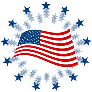 American flag free clip art clipart