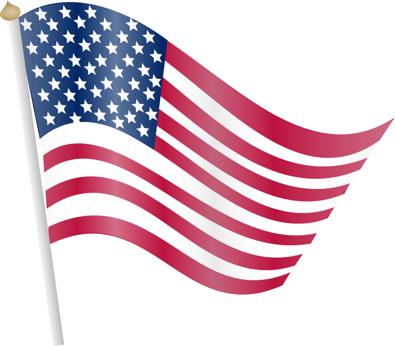 American flag free to use clipart