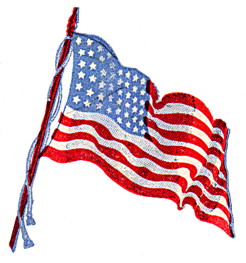 American flag graphics clipart 3