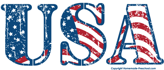 American flag united states clipart 3