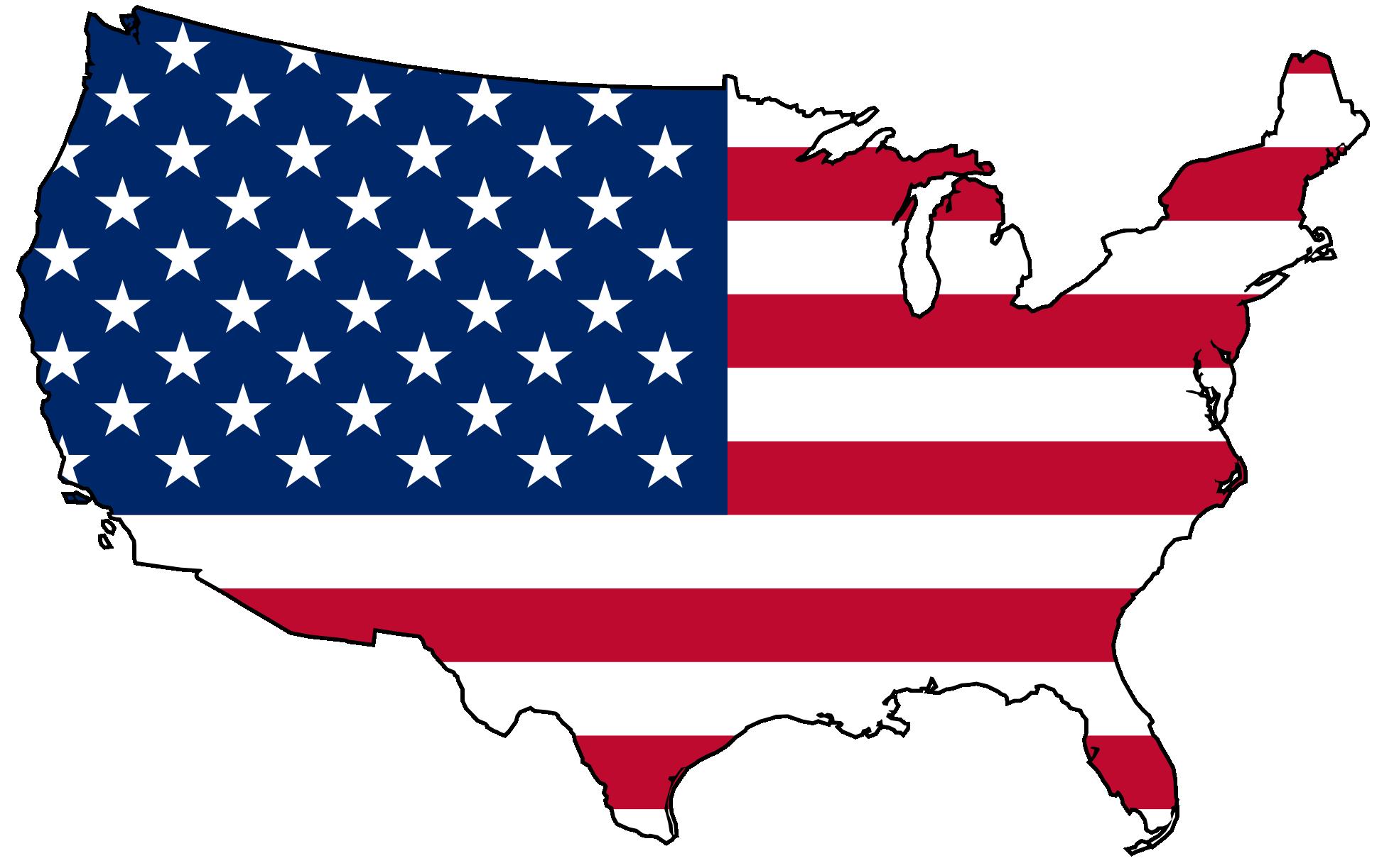 American flag usa clipart